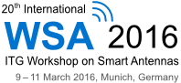 20th International ITG Workshop on Smart Antennas (WSA 2016)
